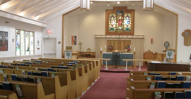 A Look At In-Person Worship Thursday Morning Eucharist image
