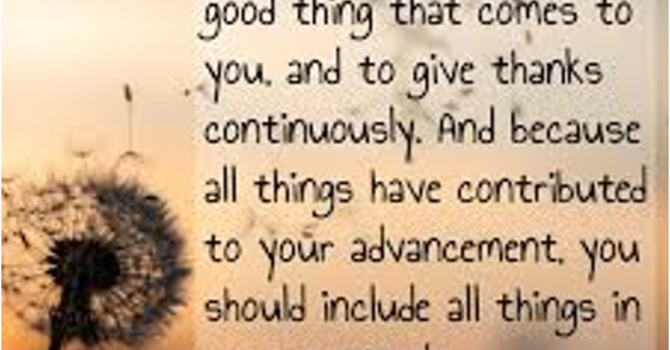 Love as a Way of Life through Gratitude (S)