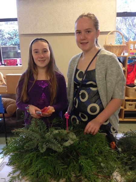 Sunday Advent Wreath Making Pictures