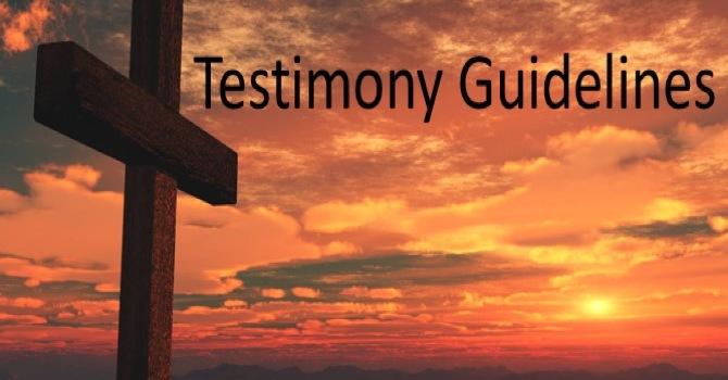 Testimony Guidelines
