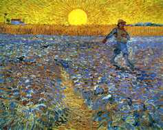 The sower sower with setting sun 1888