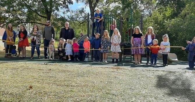 Playground Ribbon Cutting image