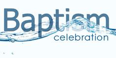 Baptism celebration banner