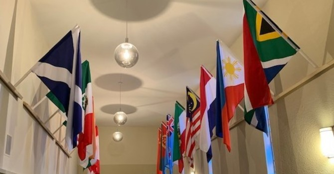 Flags in the Foyer image