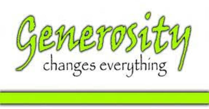 Generosity Changes Everything image