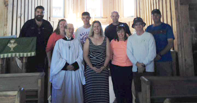 AUSSIE VISITORS at St. Saviour's, Barkerville image
