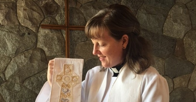 Rev. Sharon and her special stole image