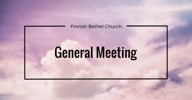General Meeting January 26th @ 11:00am image