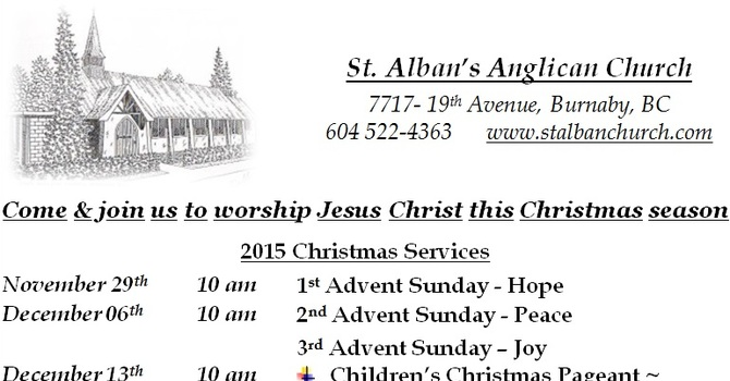 Advent and Christmas Services