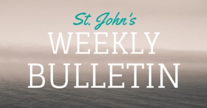 St. John's Weekly Bulletin - September  29, 2019 image