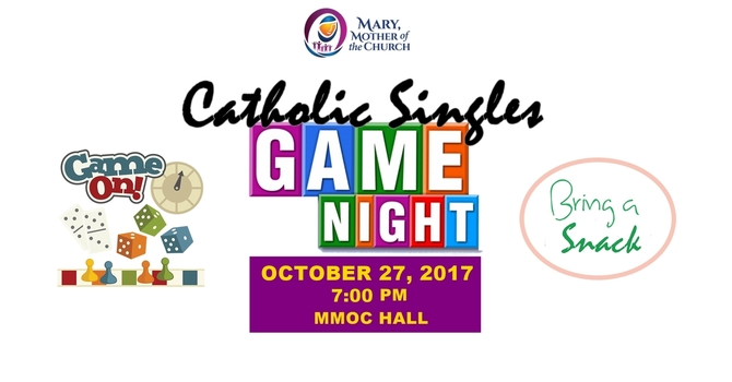 Catholic Singles Games Night - Oct 27