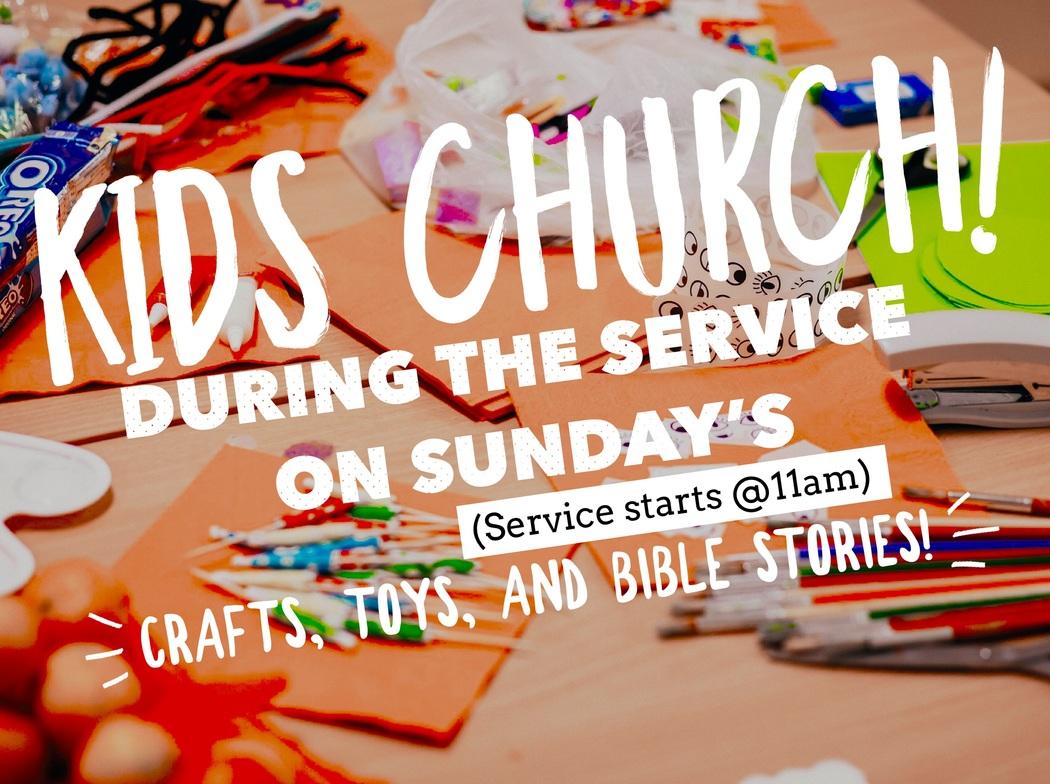 Announcing Kids Church On Sunday S Children S Ministry Kids
