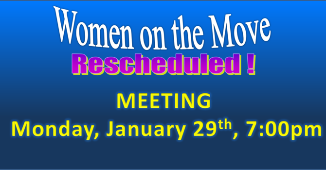 Women on the Move Rescheduled  image