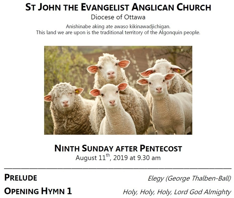 The Ninth Sunday after Pentecost