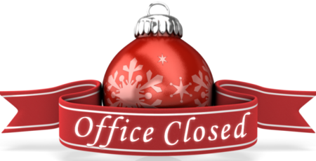 Office Closed for Christmas and New Year