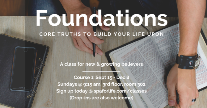 """New Class Starting Sept. 15: """"Foundations"""" image"""