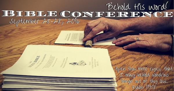 Fall Bible Conference 2016