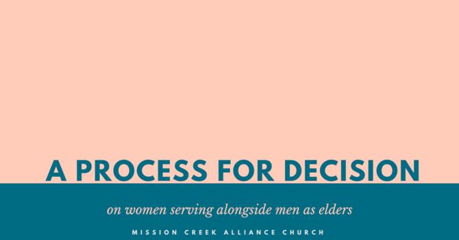 Women as Elders Process