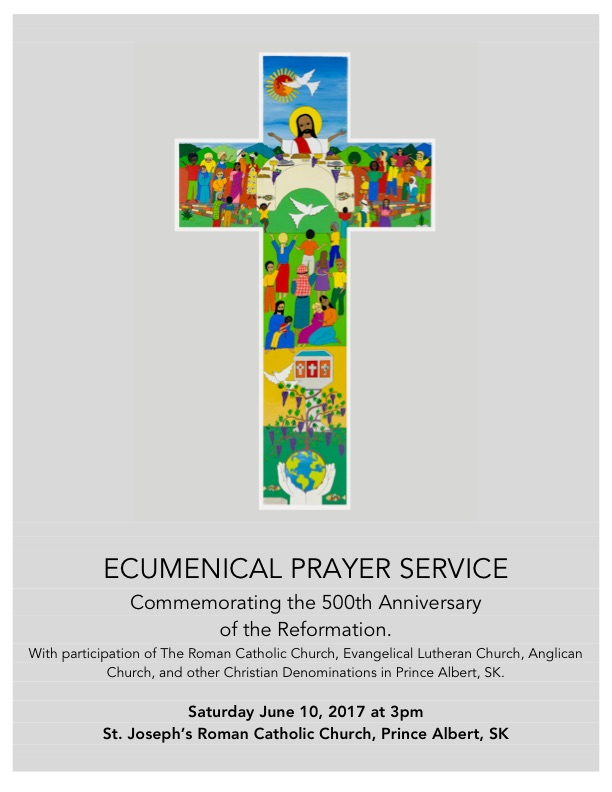 Ecumenical Prayer Service Anglican Diocese Of Saskatchewan