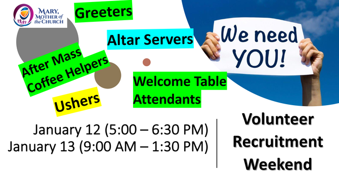 Volunteer Recruitment Weekend image