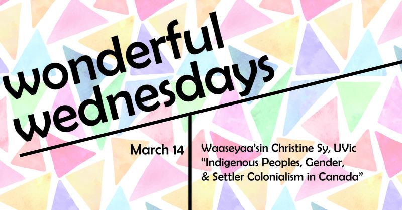 Indigenous Peoples, Gender, & Settler Colonialism