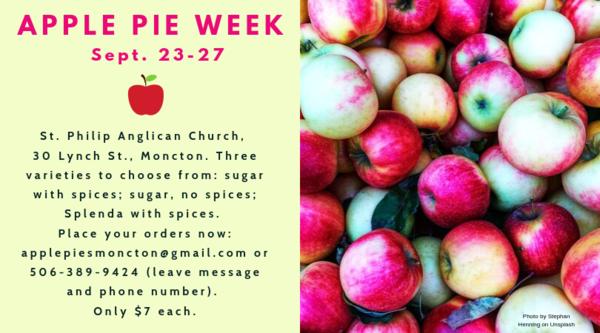 It's apple pie week in Moncton!
