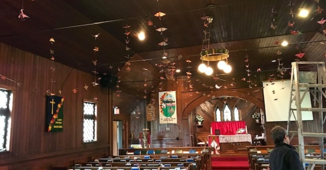 Pentecost Cranes at St. John the Divine, Maple Ridge