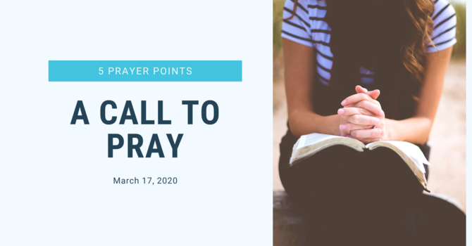Bethel Family, A Call to PRAY!