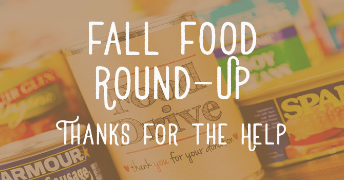 Fall Food Round-Up a Great Success image