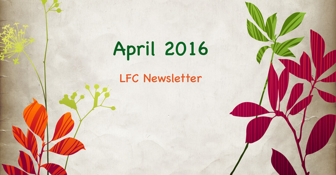 April 2016 Newsletter image