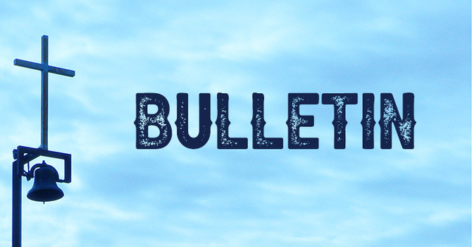 October 18, 2020 Bulletin image