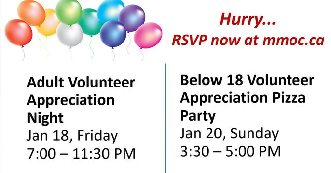 Volunteer Appreciation Events - Jan 18 & 20 Register by Jan 15! image