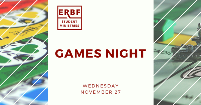Student Ministries Games Night