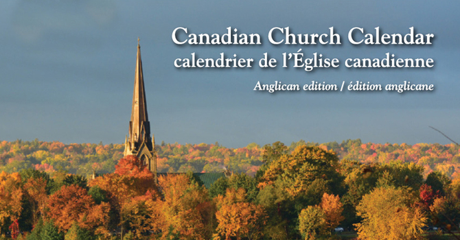 Anglican Church of Canada 2020 Calendar  image