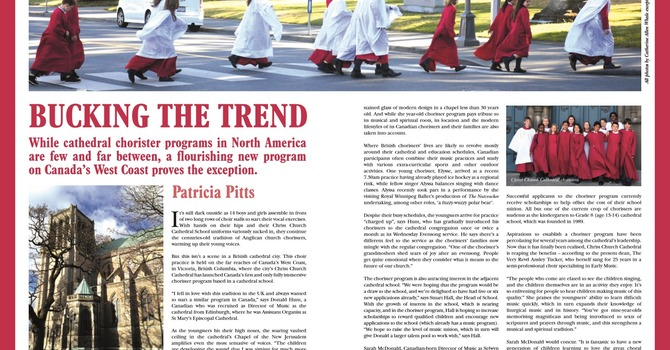 Choristers featured in UK magazine image