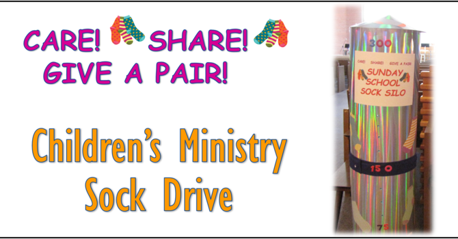 Children's Ministry Sock Drive image