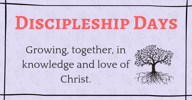Discipleship Day - Scripture