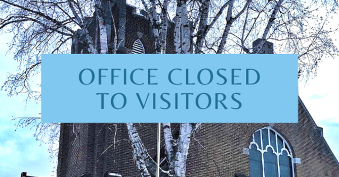 Holy Trinity Office Closed to Visitors image