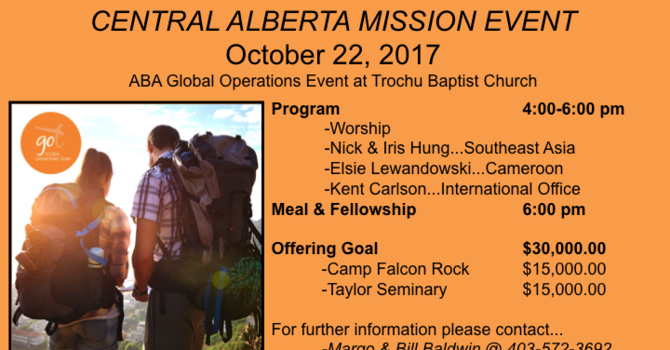 Central Alberta Mission Event