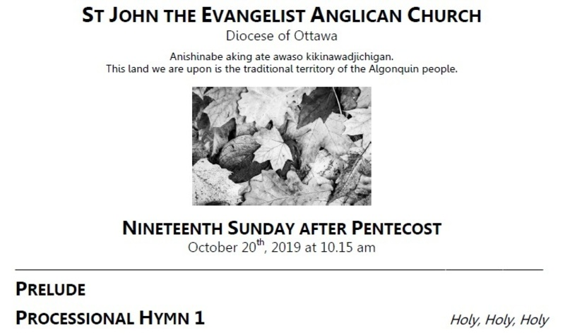 The Nineteenth Sunday after Pentecost