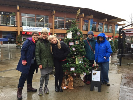 Visit St. Clement's Christmas tree in Lynn Valley Village