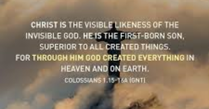 "Reign of Christ Sunday ~ ""Making Visible…the Invisible God"""