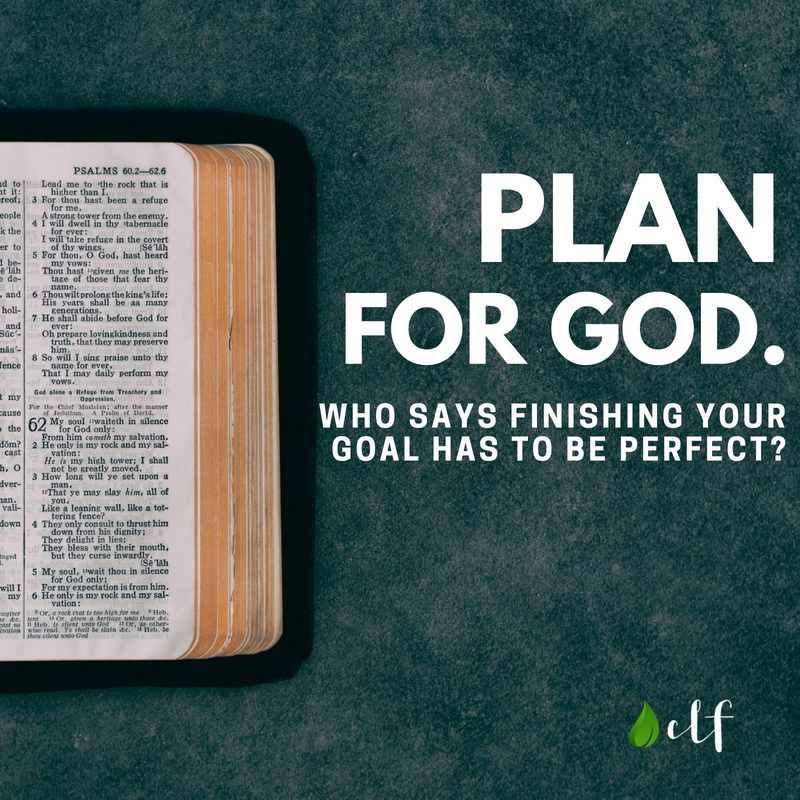 Plan for God