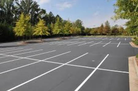 Parking Lot - White Line Painting