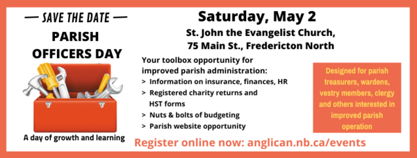 Parish Officers Day - save the date!
