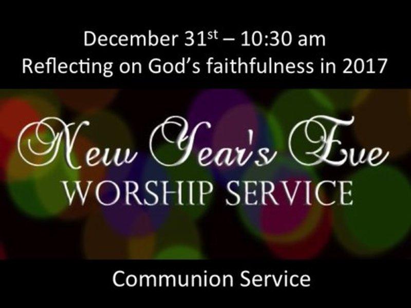 Reflecting on God's faithfulness in 2017