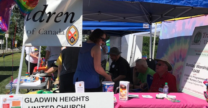 Gladwin Heights, St. Andrew's and Trinity United Churches participating in the Fraser Valley Pride Walk! image