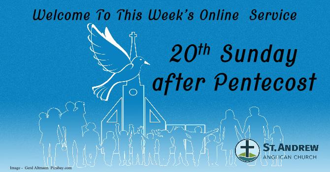 October 18, 2020 On-Line Sunday Service image