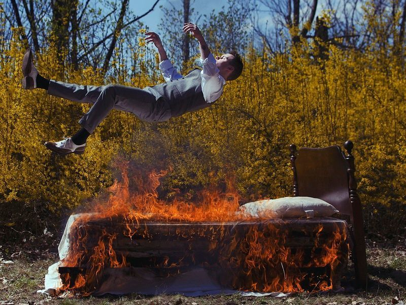 'It was on Fire when I lay down on it'.