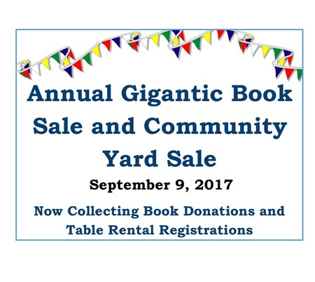 Annual BIG Book Sale & Community Yard Sale
